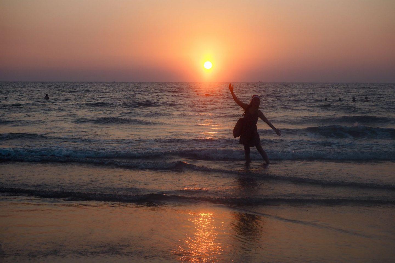 Christmas sunset on Arambol beach