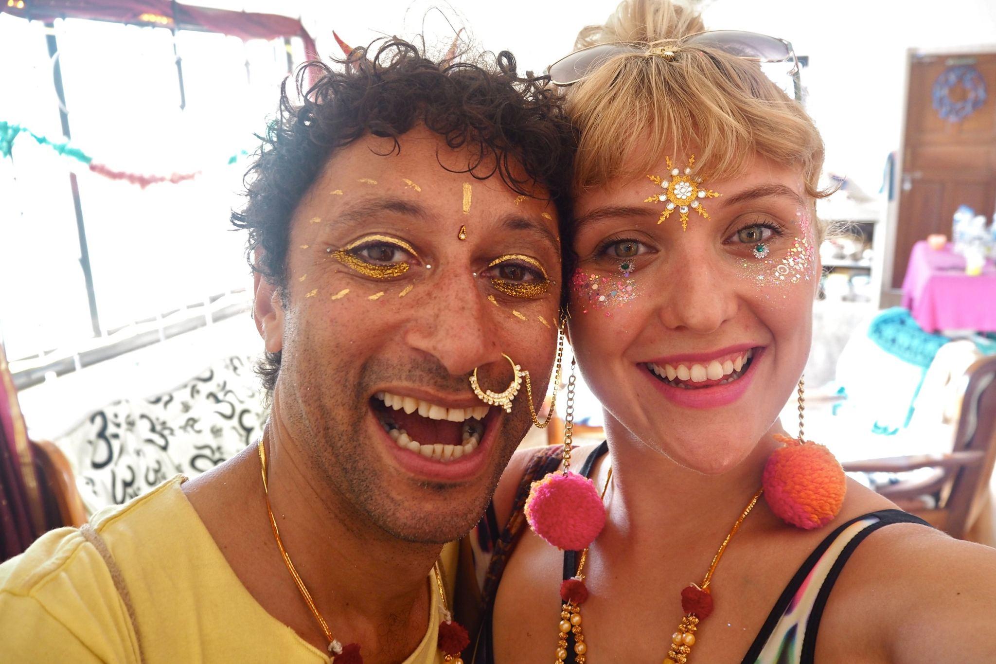 Festival glitter ideas at christmas in Arambol Goa Inida   That