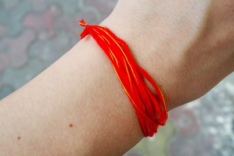Hindu blessing bracelet
