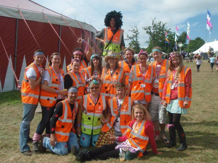 Volunteering at UK festivals, stewarding for Oxfam at Beautiful Days