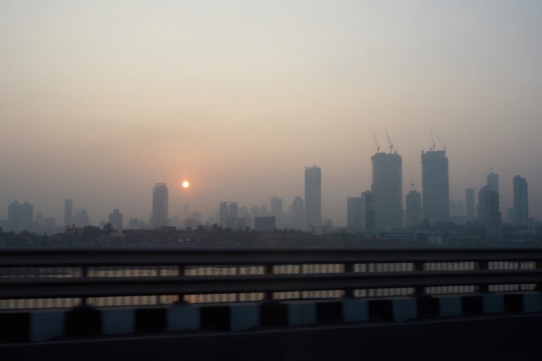 Sunrise Mumbai skyline