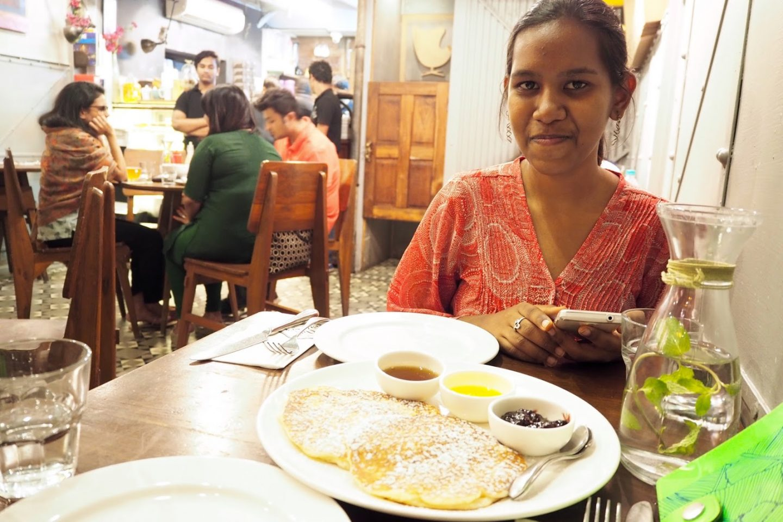 Pancakes at The Nutcracker cafe Mumbai