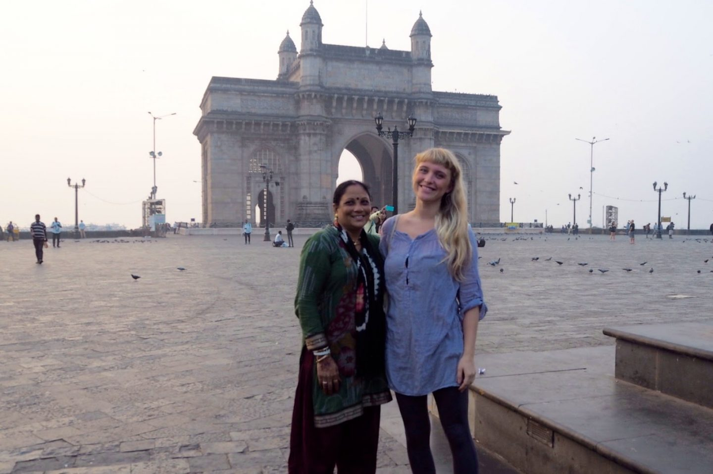 Indian lady wanted a photo with me at the gateway of india!