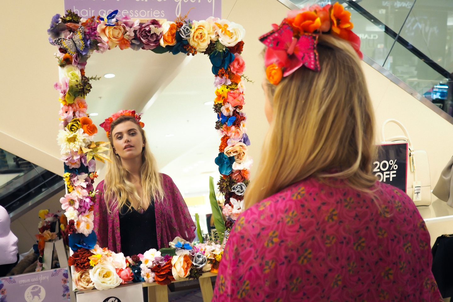 Making floral headpieces with Crown & Glory at House of Fraser