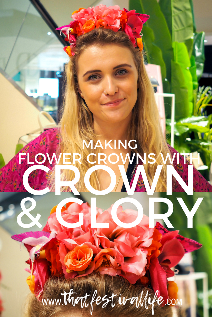 Floral Crown making in House of Fraser with Crown and Glory