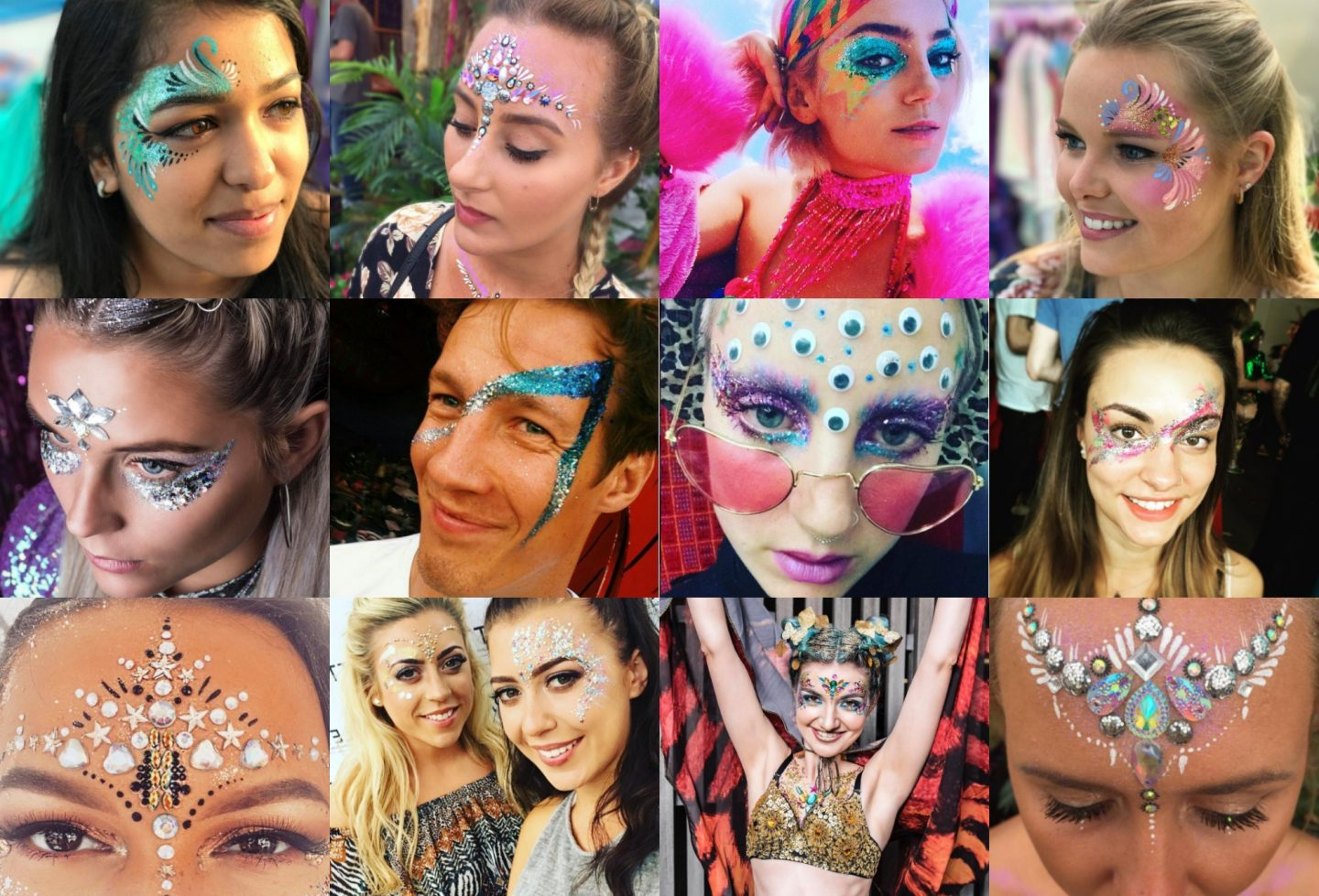 Amazing festival glitter looks to try