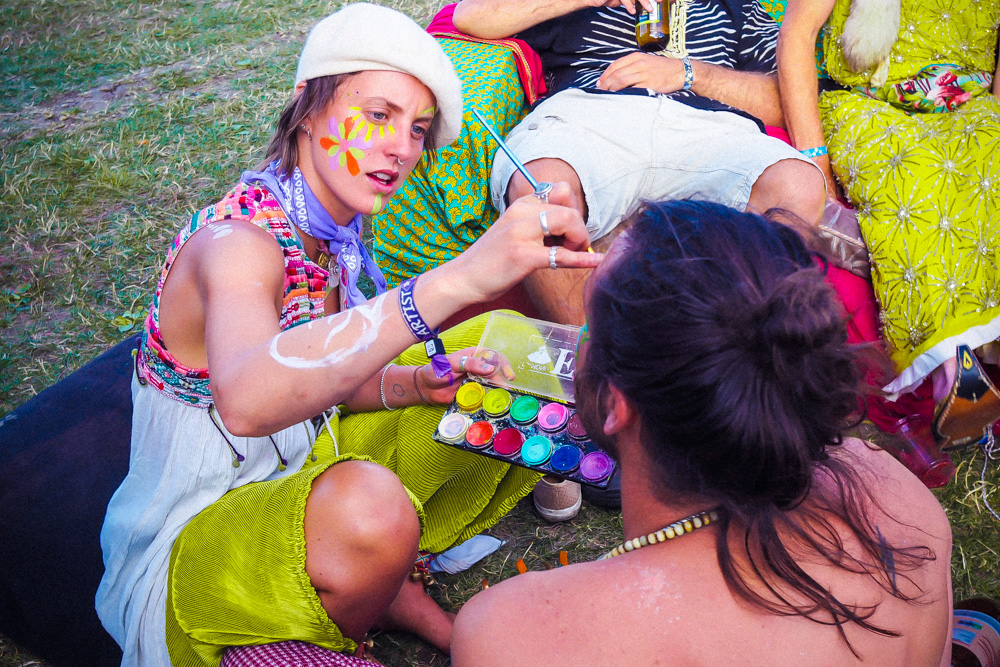 ethical festival beauty, eco-friendly cosmetics for festivals, eco-friendly face-painting, Kaleidoscope Klub, Secret Garden Party