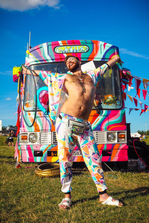 Rainbow Festival Outfit & bus