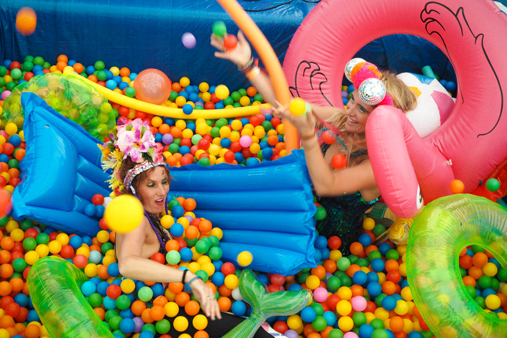 Love Saves the Day festival ball pit by Love Saves the Day