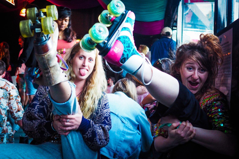 BUMP roller disco Bristol, Love Saves the Day festival, light up roller skates
