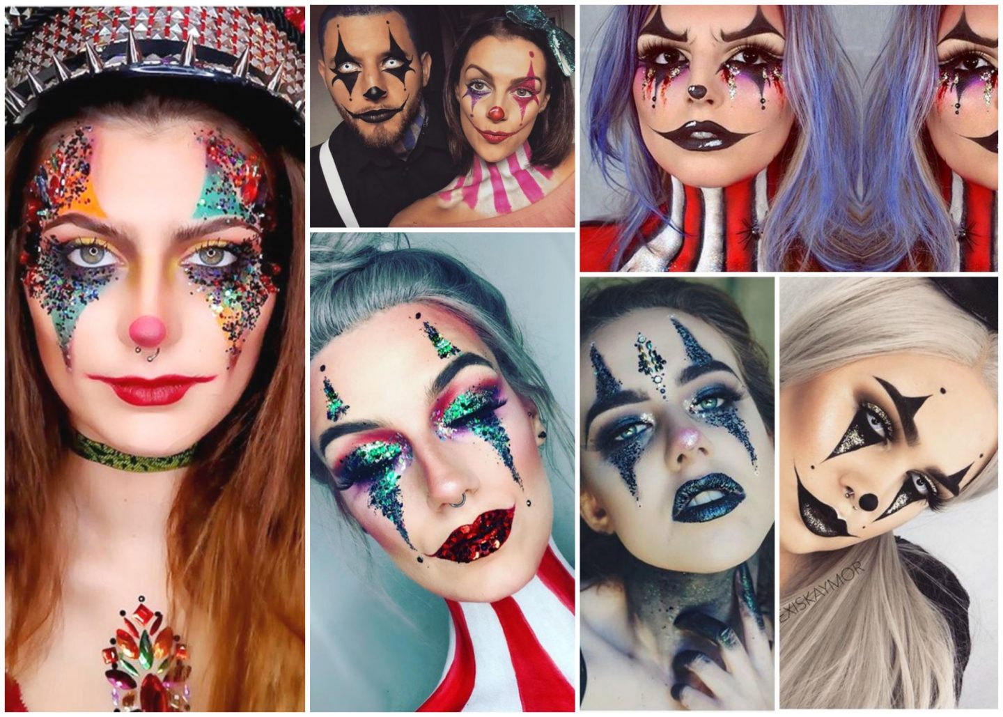 Halloween glitter clown inspiration