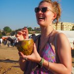 Drinking out of a coconut at Magnetic Fields