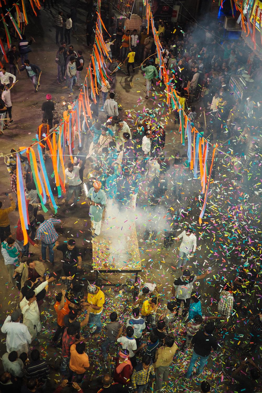 Main square pushkar Holika Dahan - Holi festival