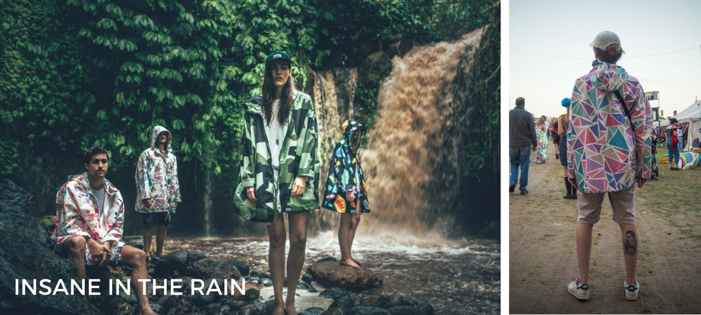 Ethical festival fashion recycled plastic raincoats