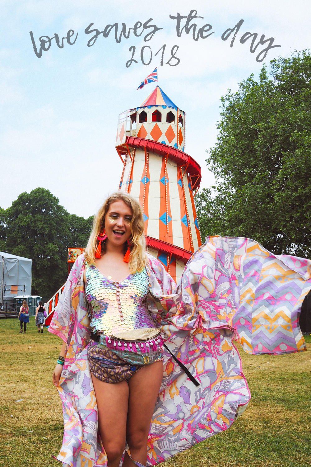 Love Saves the Day festival helter skelter sequin style