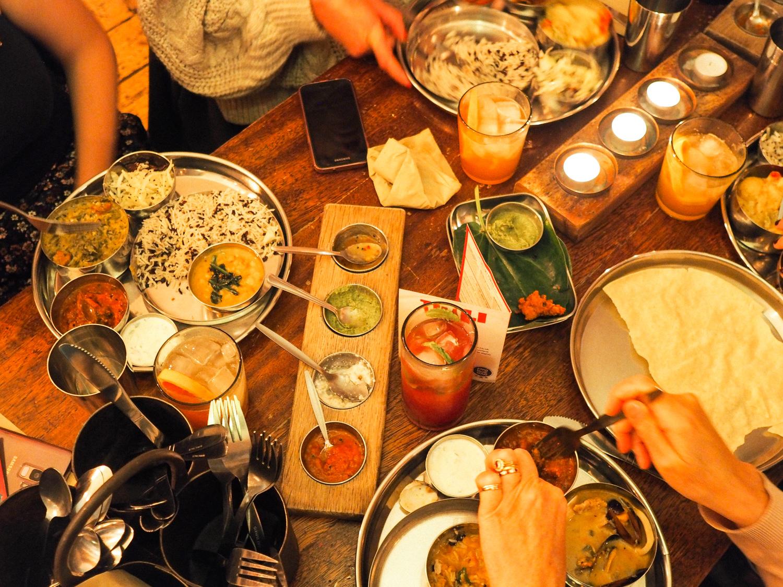 An alternative festive feast Indian christmas Menu Thali restaurant Bristol