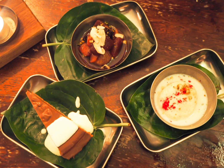 An alternative festive feast Indian christmas Menu Thali restaurant Bristol pudding dessert