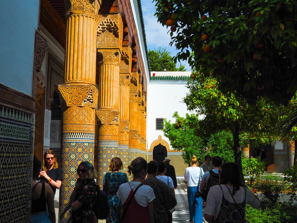 Touring the beautiful tiled Dar El Bacha museum