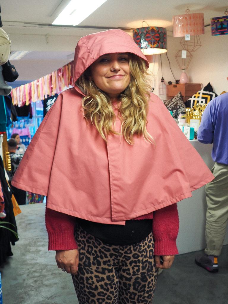 Sustainable ethical raincoat festivals