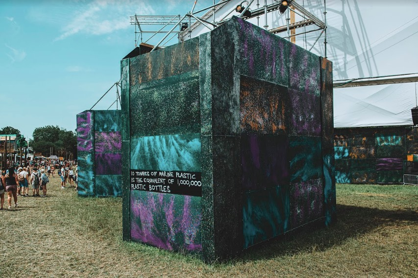 Shangri-La Gas Tower, recycled stage set at eco-friendly festivals