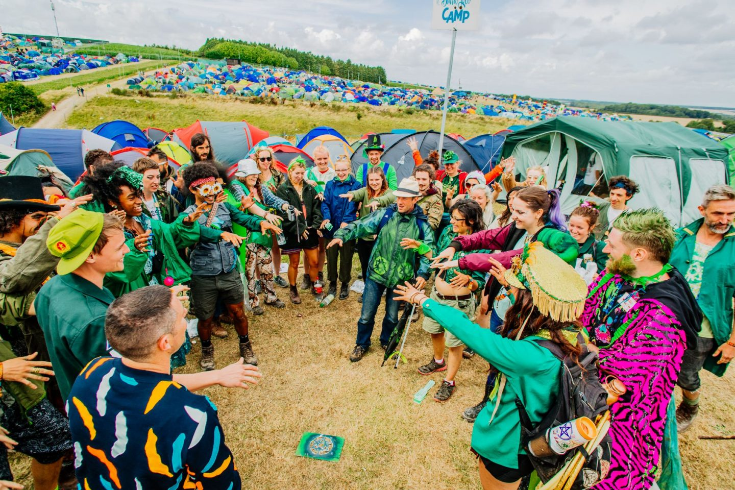 Eco Warriors promoting festival sustainability at Boomtown