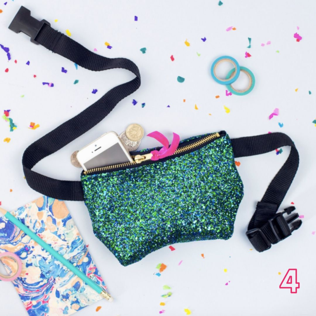 Small glittery bumbag for festivals