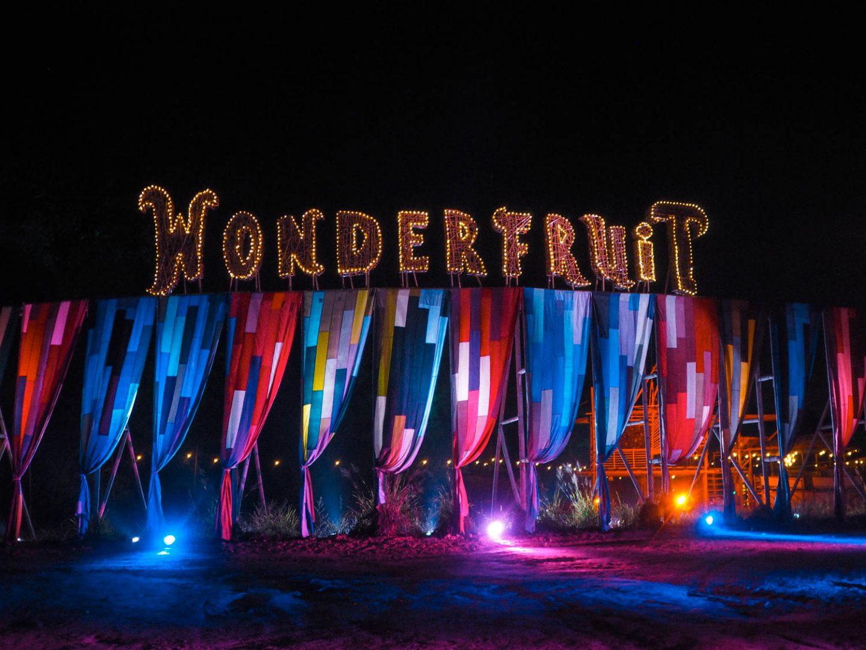 Wonderfruit festival by night