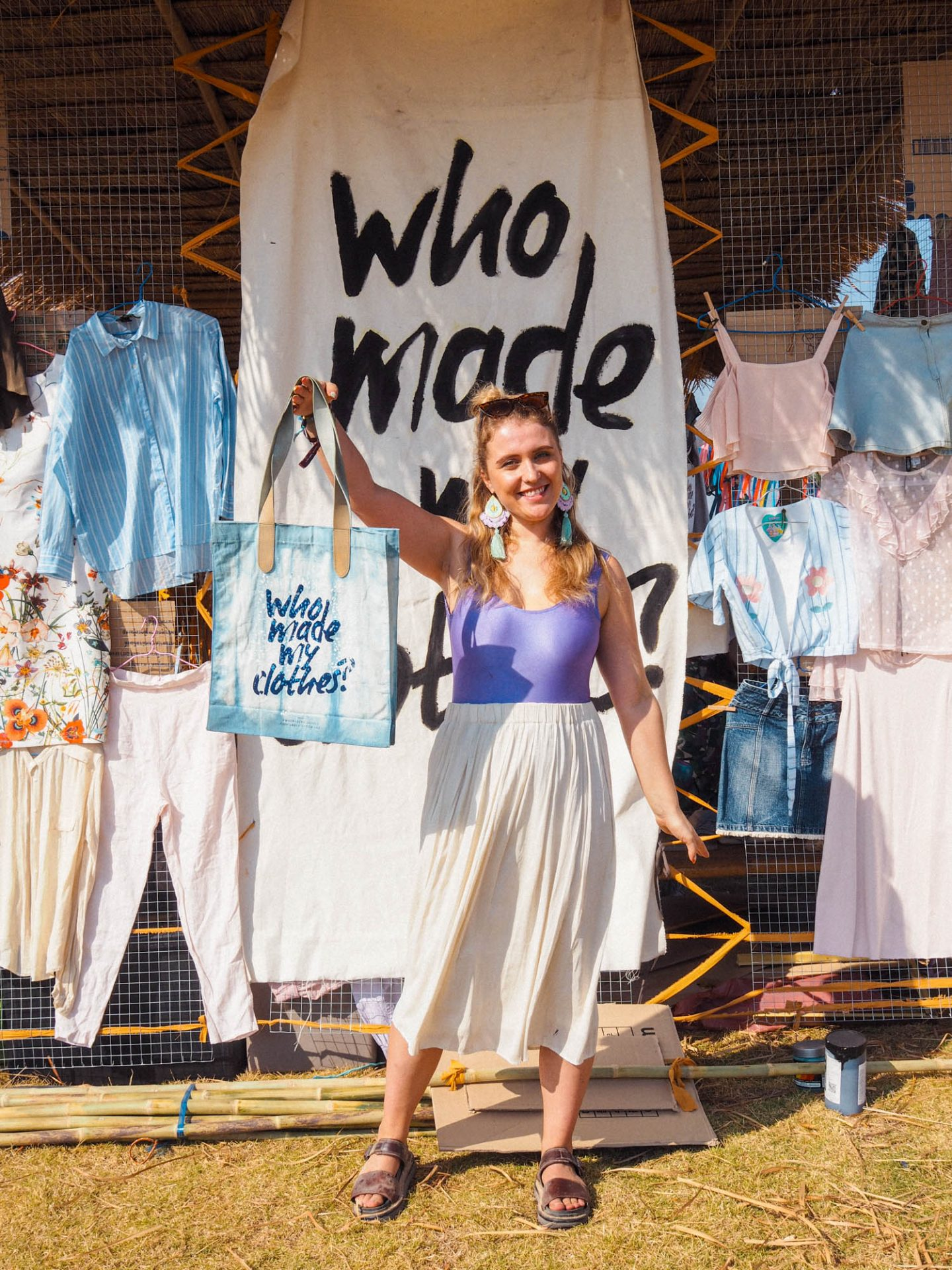 D.I.Y Tote Bag Upcycling Project at Wonder Fruit Festival