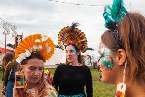 Festival fan headpieces