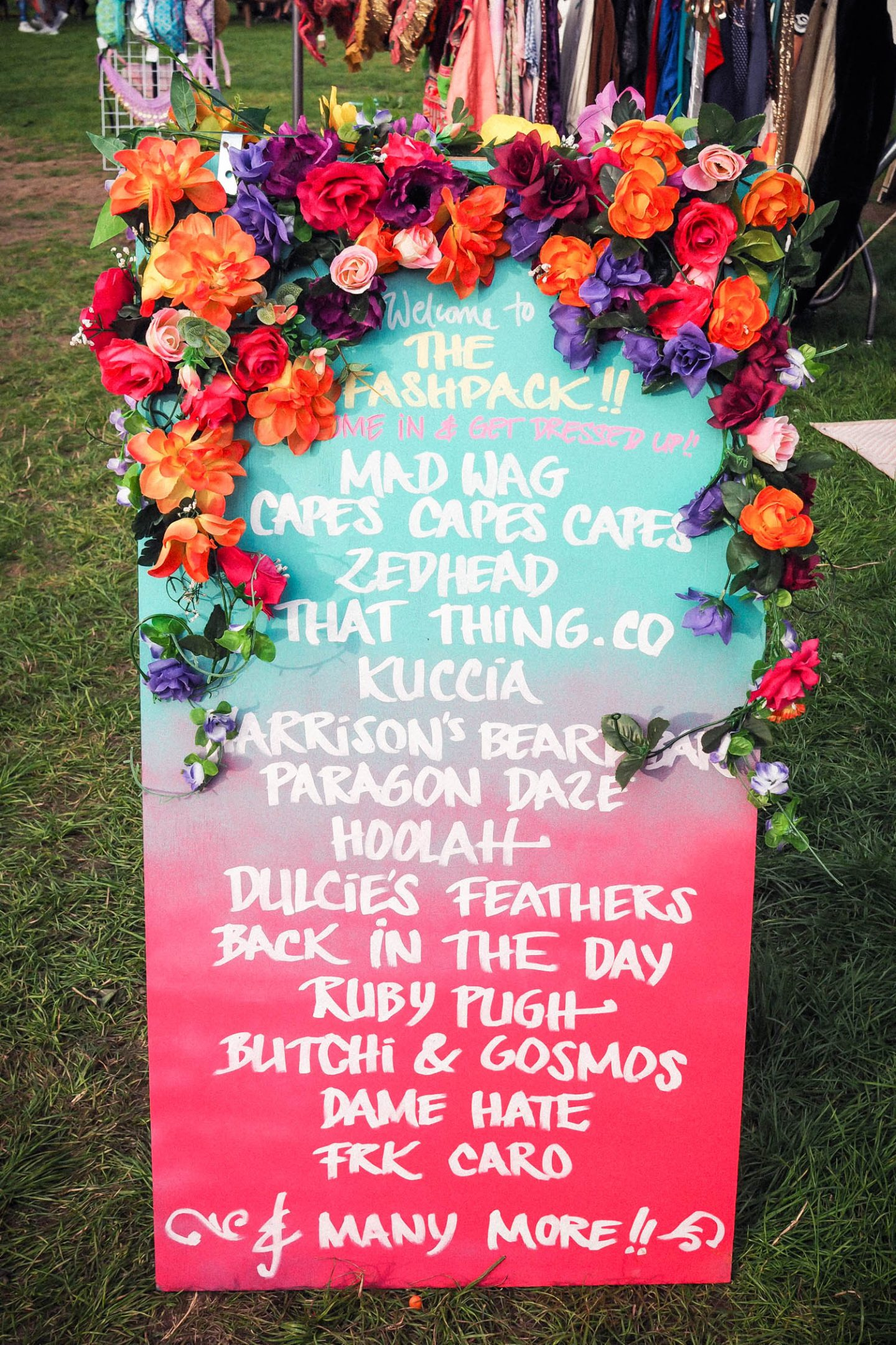Festival stall A board with flowers inspo