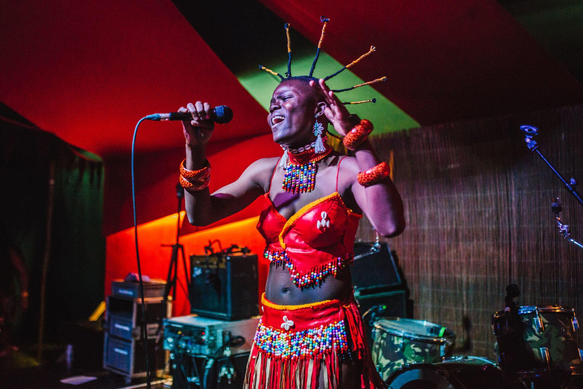Wiyaala performing at Shambala Festival
