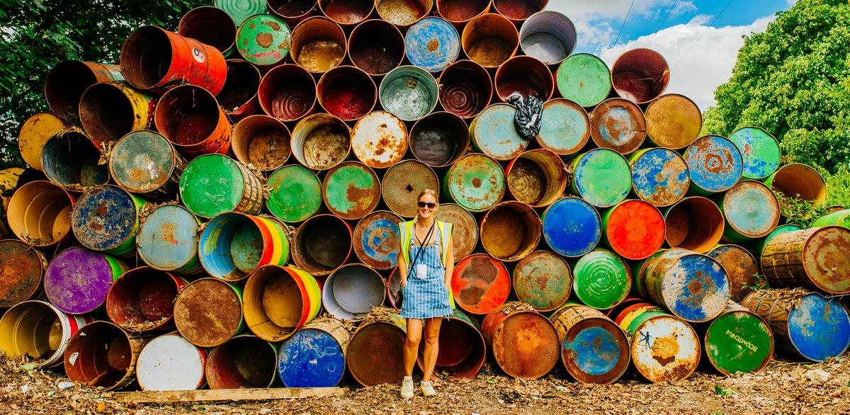 Festival work: Litter picking & bin painting