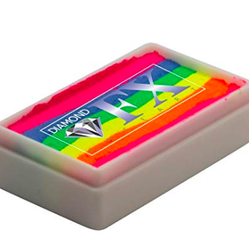 Rainbow face cake