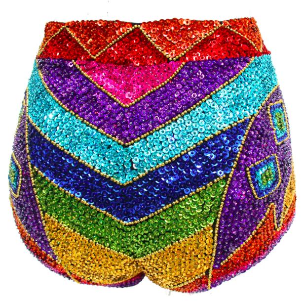 Rainbow Festival sequin shorts
