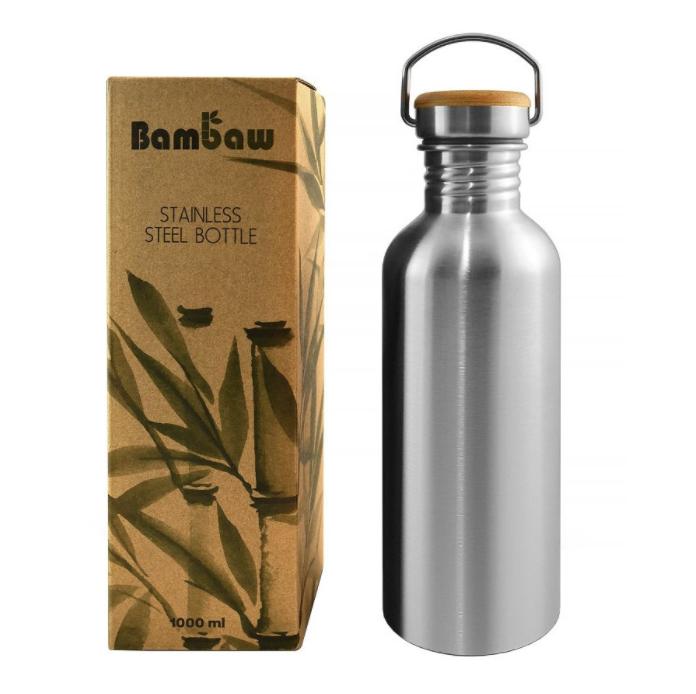 stainless steel reusable festival bottle
