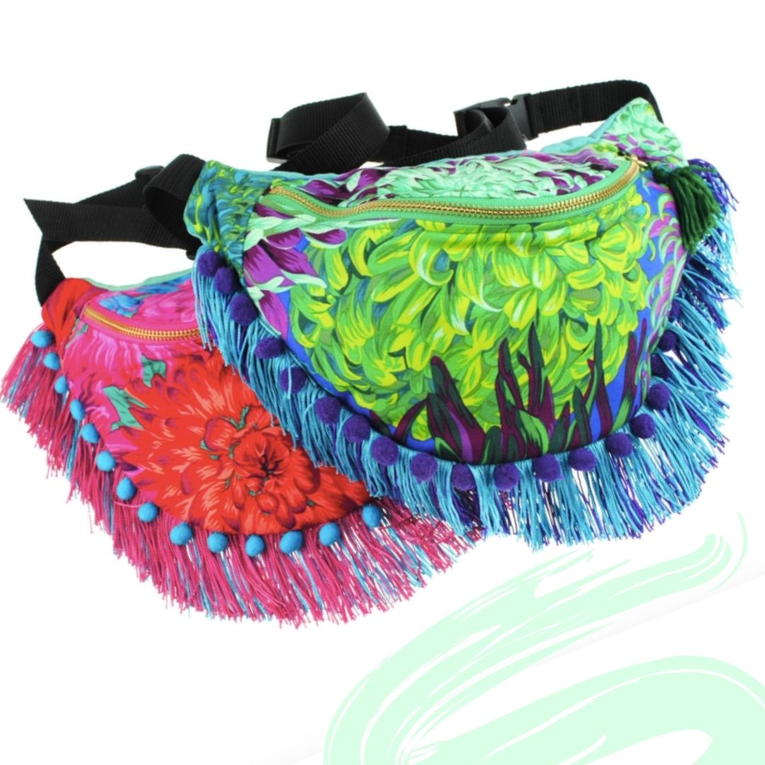 zippable festival bum bag