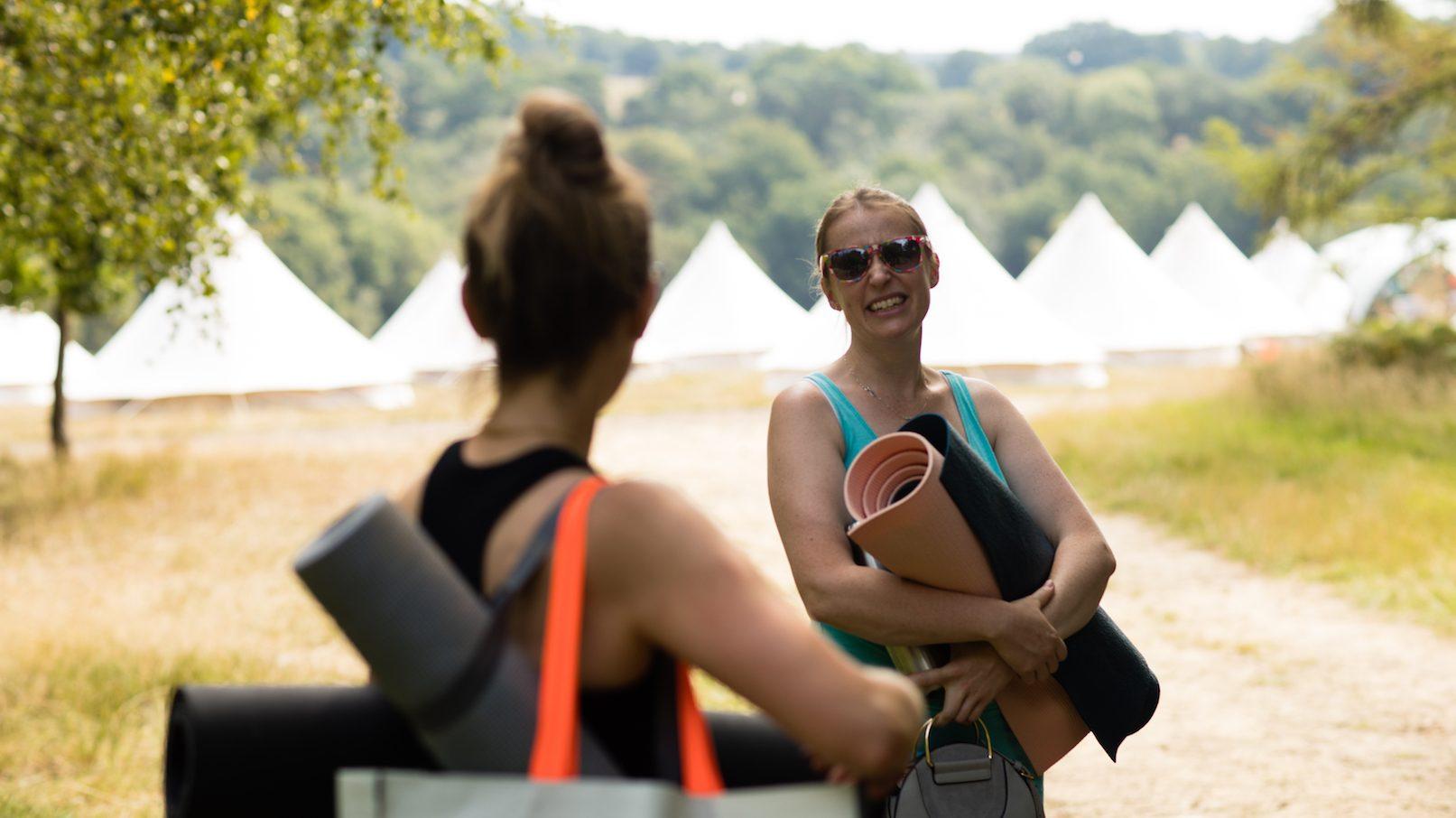 Outdoors festival wellness camp site