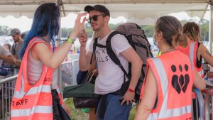 Standon Calling Ethical Staffing volunteers working at a festival
