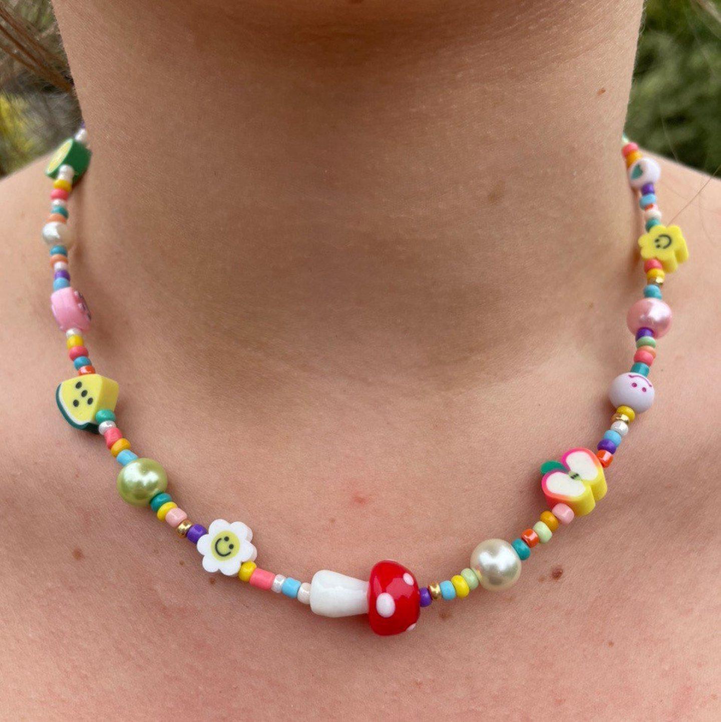 Y2K festival necklace