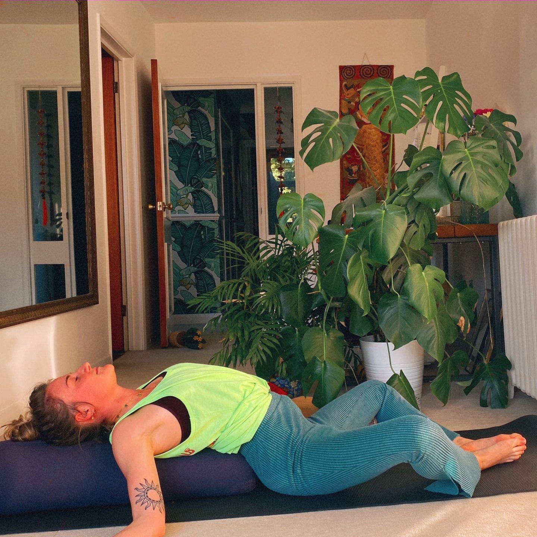 Yoga poses for festival goers